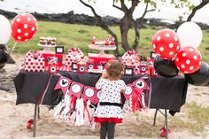 """Photo 1 of 21: Minnie Mouse Polka dots / Birthday """"Red Polka Dot Minnie Mouse Party"""" 