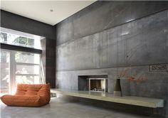 Modern concrete interior floors and walls. Cheng Design Berkeley, CA