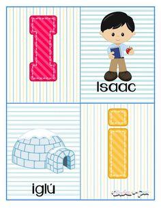 Tarjetas para trabajar el abecedario - Imagenes Educativas Kids Learning Activities, Preschool Lessons, Kids Collage, Pre Kindergarten, Alphabet, Homeschool, Classroom, Kids Rugs, Education