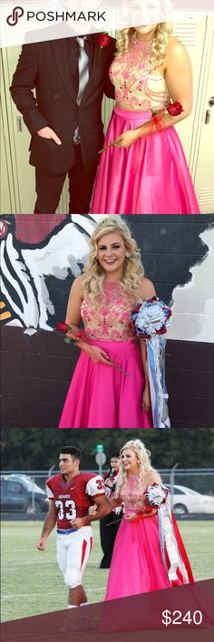 Prom homecoming dress Size 10 Cinderella brand two piece in perfect condition no stones missing worn 1x cinderella Dresses Prom