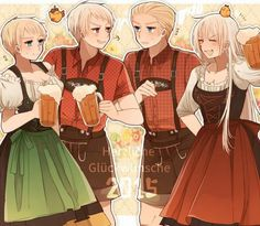 Germany and Prussia with fem!Germany and fem!Prussia