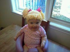 Cabbage Patch Knit Hat....hilarious!!!