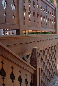 porch railings swiss chalet - Google Search