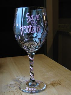 Glass I made for a friend who survived breast cancer