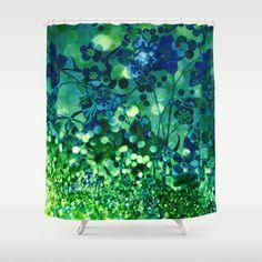 Bokeh floral Shower Curtain
