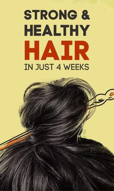 Strong And Healthy Hair In 4 Weeks hair haircare haircareroutine hairgrowth hairgrowthtips 609252655821846422 Natural Hair Regrowth, Natural Hair Styles, Long Hair Styles, Natural Haircare, Natural Beauty, Hair Growing Tips, Grow Hair, Hair Growth Treatment, Hair Care Routine