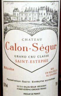 FineWineHouse - Chateau Calon Segur St. Estephe 1995 Rated 92WA, $144.95 (http://www.finewinehouse.com/chateau-calon-segur-st-estephe-1995.html)