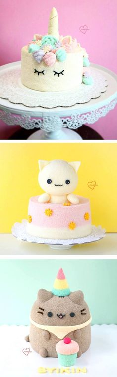 Stuffed animal cakes by Susanne Ng // creative cakes // cute dessert // kawaii food
