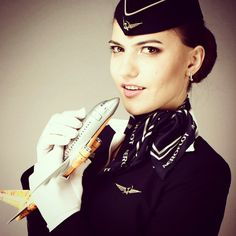 Aeroflot Stewardess Crewfie