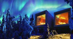 Das Artic Treehouse Hotel in Finnland ist der perfekte Ort zum beobachten der Nordlichter. Die beste Chance die Nordlichter zu sehen habt ihr in den Monaten März, September oder Oktober.