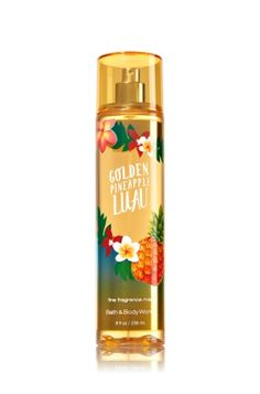 GOLDEN PINEAPPLE LUAU - FINE FRAGRANCE MIST - Signature Collection - Bath & Body Works - Lavishly splash or lightly spritz your favorite fragrance, either way you'll fall in love at first mist! Our carefully crafted bottle and sophisticated pump delivers great coverage while conditioning aloe mist nourishes skin for the lightest, most refreshing way to fragrance!