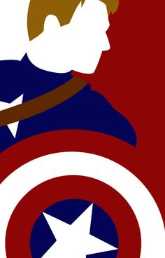 captain america silhouette | Captain America Silhouette by Audrey Hutchins | Society6