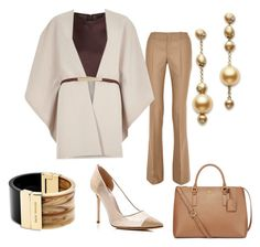 """""""Work Attire"""" by brittlynd ❤ liked on Polyvore featuring Alexander Wang, Gucci, River Island, SJP, Mikimoto, Tory Burch and Michael Kors"""