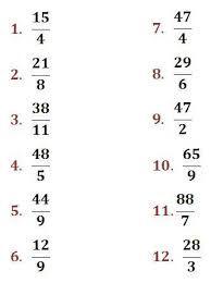 Dividir y Simplificar Fracciones Impropias (A) | Nuevas Hojas de ...