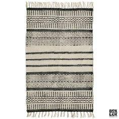 Kanvas tæppe med print fra Nordal - 60x90 cm.
