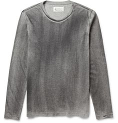 Maison Martin Margiela - Long-Sleeved Washed Cotton-Jersey T-Shirt | MR PORTER
