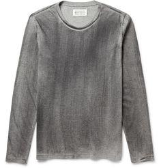 Maison Martin Margiela - Long-Sleeved Washed Cotton-Jersey T-Shirt | MR PORTER
