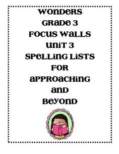These are the Approaching and Beyond focus walls for those who differentiate the spelling groups. These focus walls contain all of the information as my on level focus walls but now contain the different spelling lists. Please leave feedback after you download:)