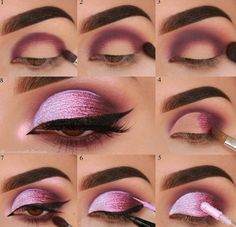 60 Stunning Eyeshadow Tutorial For Beginners Step By Step Ideas pink shimmy eyeshadow looks ideas step by step for beginners eye makeup for prom eye makeup look ideas eye makeup ideas for blue eye. Prom Eye Makeup, Sexy Eye Makeup, Eye Makeup Steps, Simple Eye Makeup, Pink Makeup, Smokey Eye Makeup, Fast Makeup, Natural Makeup, Beginners Eye Makeup