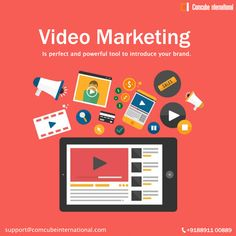 Video marketing also reffered as video advertising. Video marketing is perfect tool to introduce your brand and increase your growth.  Video advertising is the most powerful method to increase your customers faster than any other advertising methods.  Talk to us for Enquiry : +918891100889 Email : support@comcubeinternational.com  #digitalmarketing #socialmedia #videomarketing #videoadvertising #seo #smm #digitalbranding #comcube