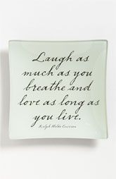 'Laugh As Much As You Breathe and Love as Long as You Live' Trinket Tray