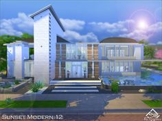 The Sims Resource: Sunset Modern 12 by Devirose • Sims 4 Downloads