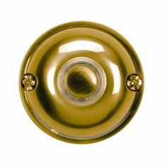 Heath Zenith Wired Polished Brass Plated LED Halo-Lighted Push Button-910 - The Home Depot