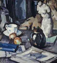 Still Life with Plaster Cast  samuel john peploe