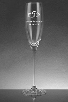 Leonardo Sektglas mit Gravur als Geschenk zur Hochzeit