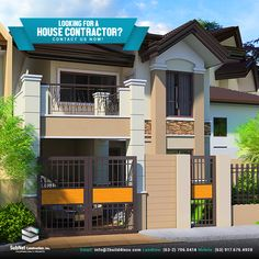 Sample House Design | General Contractor | Now Accepting Clients :) We can help you in your dream home construction - from planning, construction, up to completion. Contact us now! We are more than glad to assist you: Email: info@2build4less.com Mobile: 0917-676-4928 Landline: (632) 706-0414 #HouseConstruction #DreamHome #BeautifulHouseDesigns