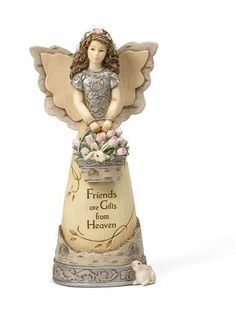 Friends Angel - Basket of Roses and Bunnies