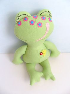 Kids  Baby & Toddler  Stuffed Toy  Rag Doll  Frog  by 2dancingdogs, $45.00