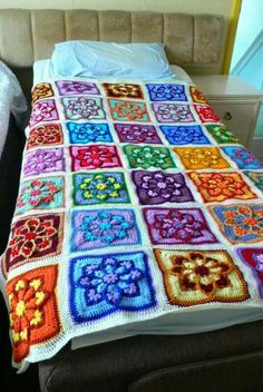 JulieAnny's Stained Glass Afghan Square by Julie Yeager Designs on Ravelry .com