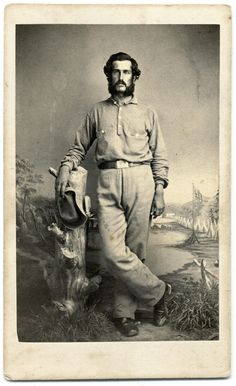 A Casually Dressed Connecticut Soldier? Military Pants, American Civil War, Military History, Old Pictures, Historical Photos, Vintage Men, Sailor, Backdrops, Zahn