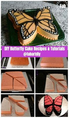 Cake Decorating 403353710379044332 - DIY Butterfly Cake Recipes & Tutorials Source by Butterfly Birthday Cakes, Diy Birthday Cake, Butterfly Cakes, Butterfly Party, Birthday Recipes, Monarch Butterfly, Diy Butterfly Decorations, Origami Butterfly, Girl Birthday