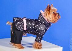 """Купить Комбинезон для собак """"Рюшки - бантики-горошки"""" - комплект, грифон, Йоркширский терьер, одежда для собак"""