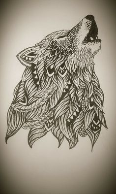 wolf zentangle - Поиск в Google