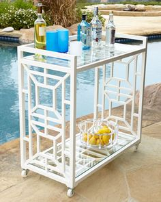 Chinoiserie Bar Cart - Neiman Marcus