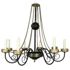 French Moderne Chandelier