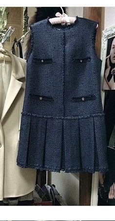 Modest Outfits, Fall Outfits, Kids Outfits, Day Dresses, Casual Dresses, Fashion Dresses, Moda Formal, Chanel Dress, Tweed Dress