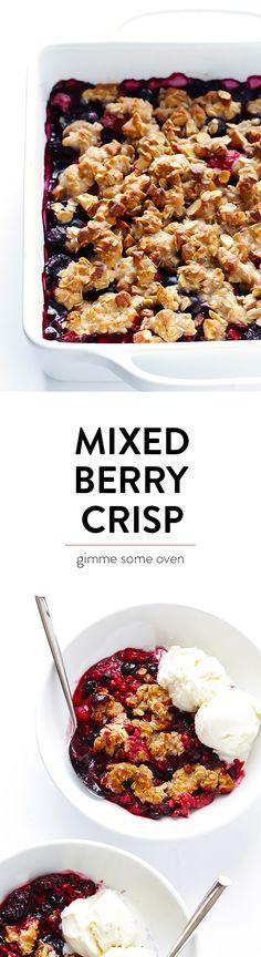 Berry Almond Crisp