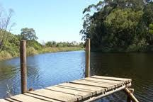 stanford village overberg Garden Bridge, Outdoor Structures, River, Rivers