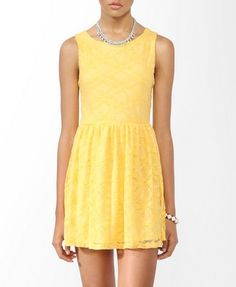 Sleeveless Lace Dress- Forever 21 - I have this!! So adorable. Always get comments :)