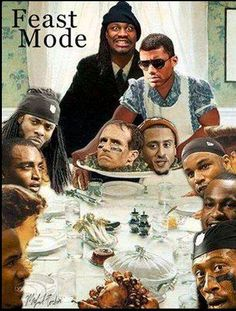 Seattle Seahawks Thanksgiving feast!
