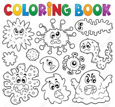 Alphabet Drawing Book Pdf Best Of Coloring Book Germs theme 1 Drawing Book Pdf, Alphabet Drawing, Coloring Pages For Boys, Free Coloring, Coloring Books, Germ Crafts, Les Microbes, Diy Pour Enfants, Science Projects