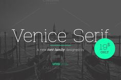 Venice Serif - Font Family by Unio | Creative Solutions on @creativemarket. Price $19