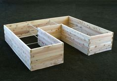 """U-Shaped Raised Garden Bed - 3' x 8' x 9' x 22"""" made from 2"""" x 6"""" 's."""