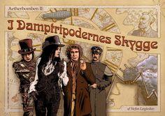 Forsiden til I Damptripodernes Skygge. Et scenarie til Fastaval 2014 i genren steampunk / espionage-action.