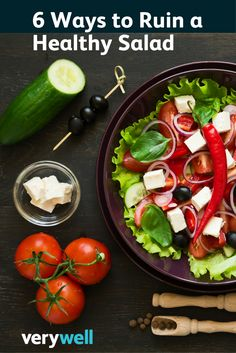 Salads can be nutrient-dense, low-calorie power meals, but the wrong ingredients can make a good salad go bad fast. Healthy Soup, Healthy Salads, Healthy Tips, Healthy Eating, Healthy Recipes, Diet And Nutrition, Soup And Salad, Meal Ideas, Salad Recipes