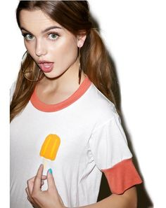 Popsicle Ringer Tee Trendy Outfits, Trendy Fashion, Cute Outfits, Trendy Clothing, Womens Fashion, J Valentine, Ringer Tee, For Love And Lemons, Whats New